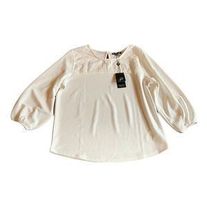 NWT Adrianna Papell Ivory Blouse